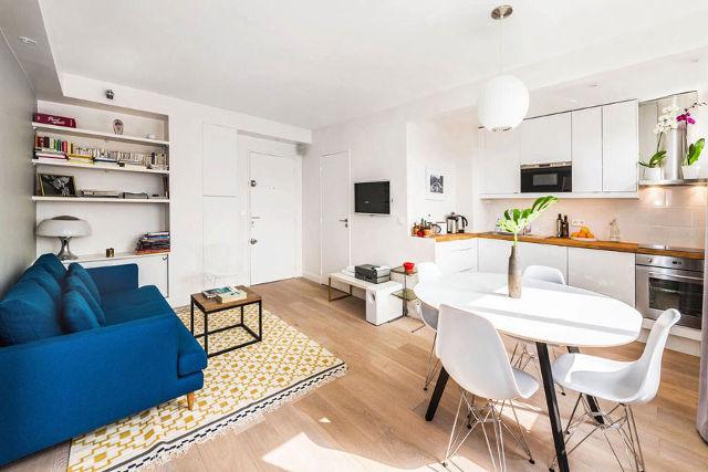 Планировка кухни-гостиной в квартире-студии