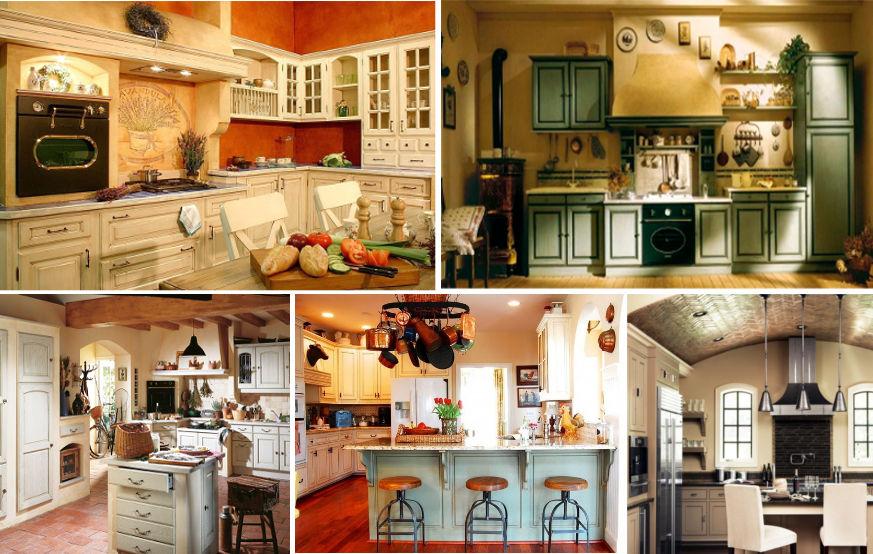 Цвет гарнитура для кухни прованс