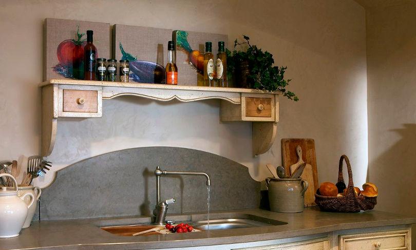 Открытые полки - изюминка прованской кухни
