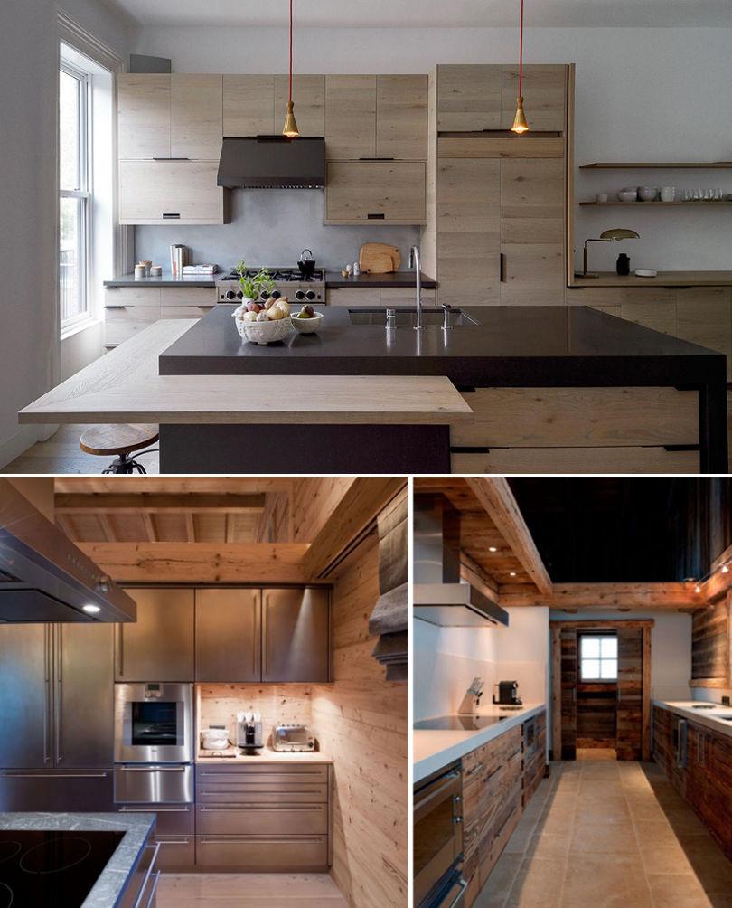 Кухня в стиле шале в квартире