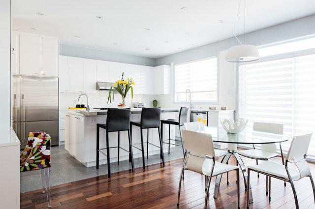 Барные стулья на кухне в современном стиле