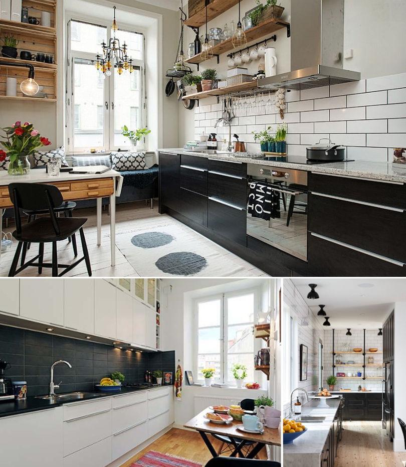 Черная кухня в скандинавском стиле