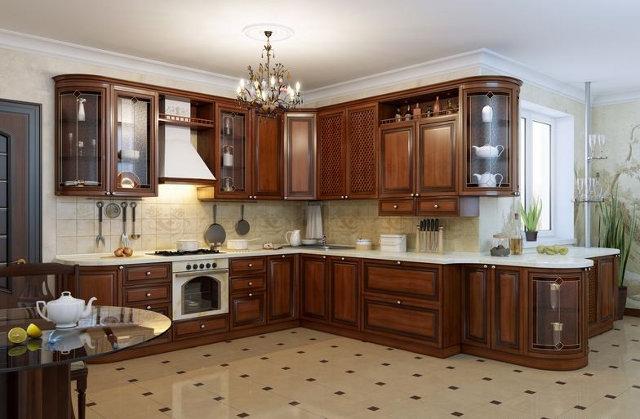 Кухня оформленная в итальянском стиле в современной квартире