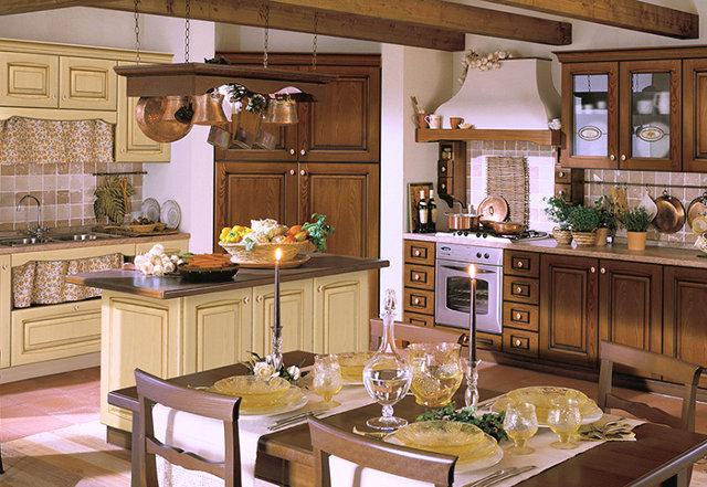Классический интерьер итальянской кухни
