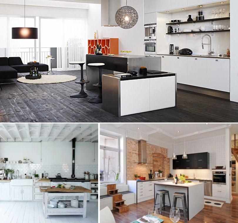 нтерьер кухни в скандинавском стиле