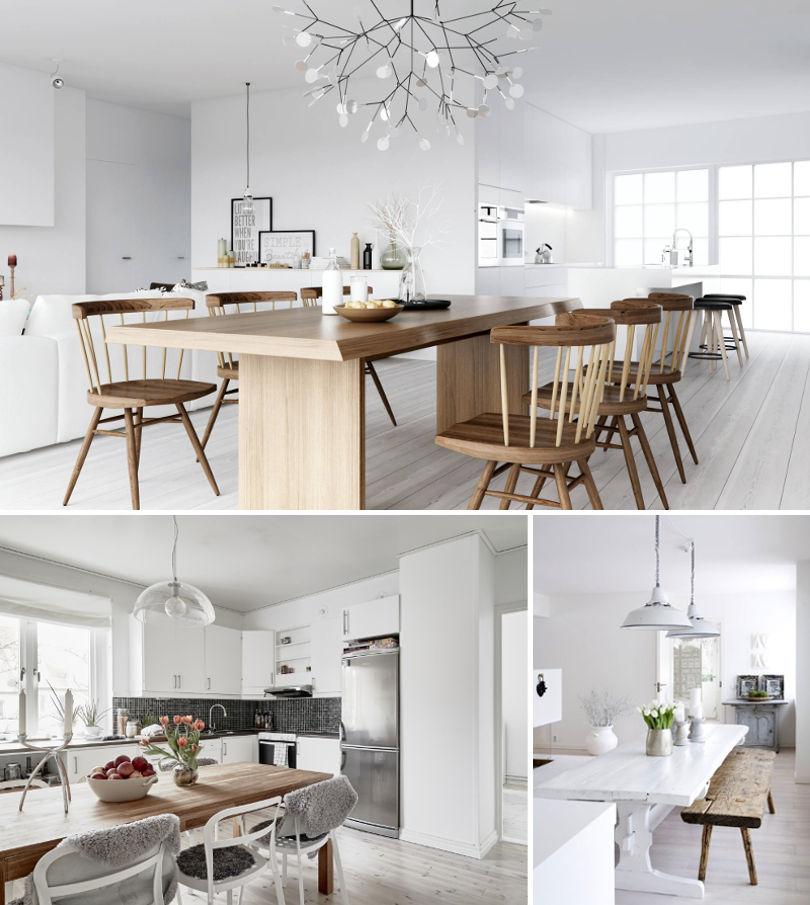 Стол для кухни в скандинавском стиле