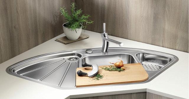 Угловая мойка для кухни Blanco Delta