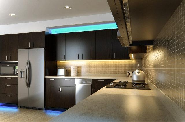 Сочетание декоративной и функциональной подсветки
