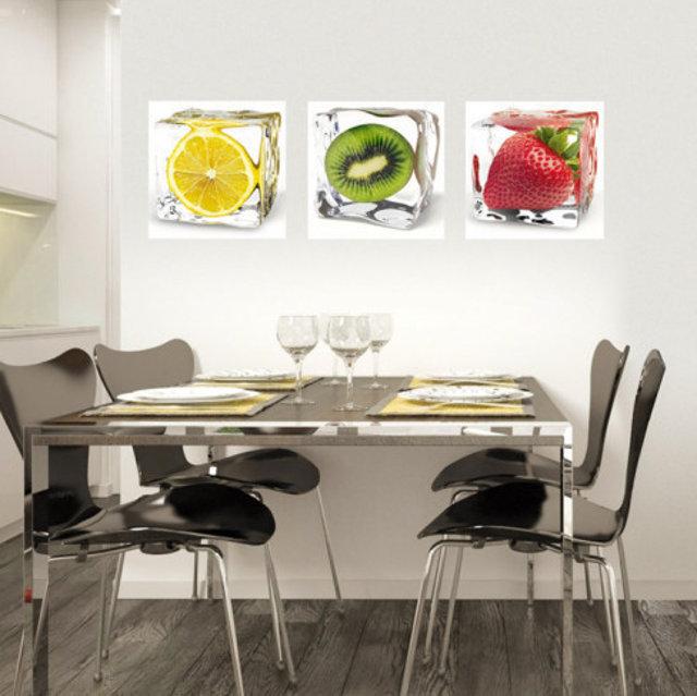 Триптих на фруктовую тему - вариант для кухни хай-тек