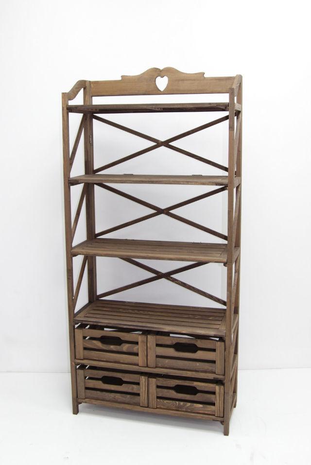 Красивая деревянная этажерка для кухни