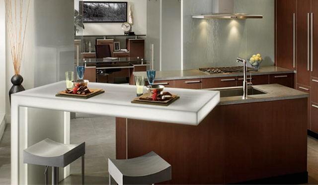 Барный стол для кухни в современном стиле