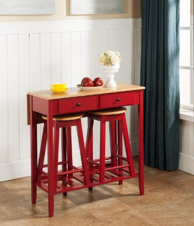 Маленький складной барный столик в ретро стиле